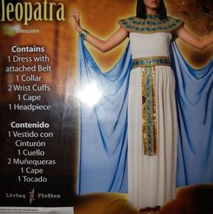 Living Fiction Size Med Cleopatra 6 piece Costume